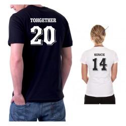 Pro páry,Together Since -Společně Od - Pánské Tričko s vtipným potiskem