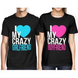 I love my crazy Boyfriend - Dámske Tričko s vtipnou potlačou