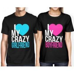 I love my crazy Girlfriend - Pánske Tričko s vtipnou potlačou