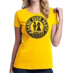 Game Over Party - Dámske Tričko s vtipnou potlačou