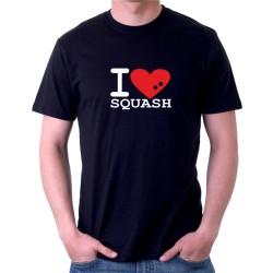 I love Squash - Pánske tričko s vtipnou potlačou