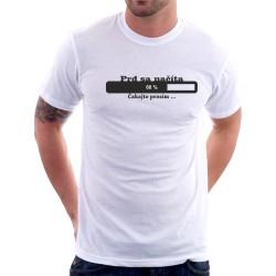 Prd sa načíta, čakajte prosím - Pánske tričko s vtipnou potlačou