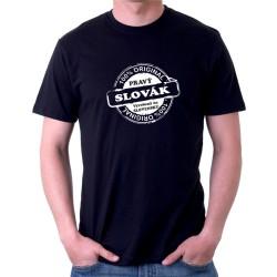 Pravý Slovák, 100 % originál - vyrobený na Slovensku - Pánske tričko s vtipnou potlačou