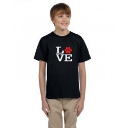 Love tričko pre milovnikov psov - Detské Tričko s potlačou - Detské tričko s vtipnou potlačou