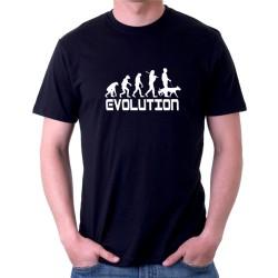 Evolúcia psíčkara - Pánske tričko s vtipnou potlačou