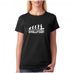 Evolúcia psíčkara - Dámske tričko s vtipnou potlačou