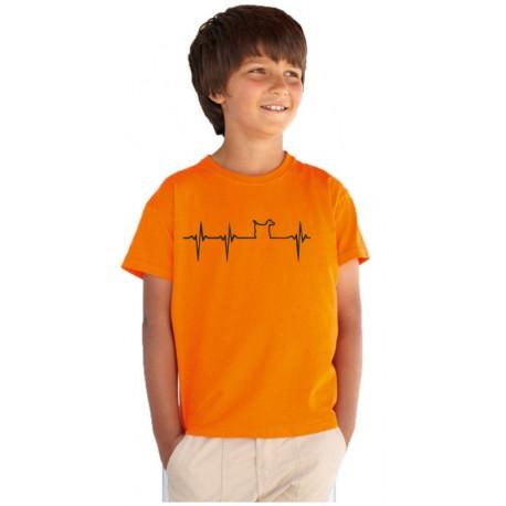 Tlkot srdca pre psíka - detské tričko s vtipnou potlačou