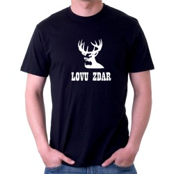 Lovu zdar - poľovnícke tričko - Pánske tričko s vtipnou potlačou