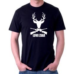 Lovu zdar II - poľovnícke tričko - Pánske tričko s vtipnou potlačou