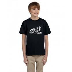 Evolúcia Badminton - Detské tričko s vtipnou potlačou