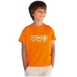 Eat Sleep Dog - Detské tričko s vtipnou potlačou