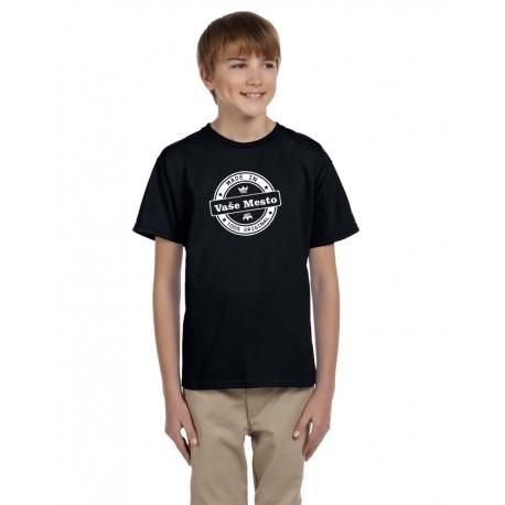 Made in Vaše město, 100% originál - Detské tričko s vtipnou potlačou