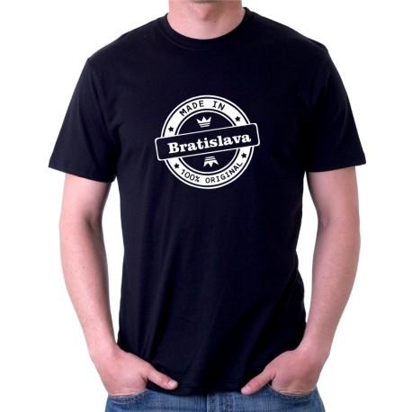 Made in Bratislava 100% originál - Pánske tričko s potlačou