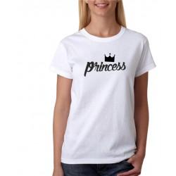 Princess - Dámske Tričko s potlačou pre páry