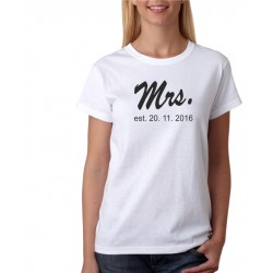Mrs. Estimate - Dámske Tričko s potlačou pre páry