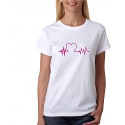 Heart beat - Tlkot srdca pre zamilovaných - Dámske tričko s potlačou pre páry