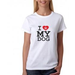I love my Dog - Dámské tričko s potlačou pre psíčkarou