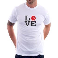 Love - Pánske tričko s potlačou pre psíčkarou