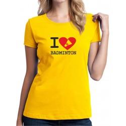 I Love Badminton - Dámské tričko s potlačou