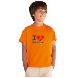 I Love Badminton - Detské tričko s vtipnou potlačou