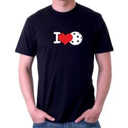 I Love Floorball - Pánske tričko s potlačou