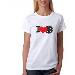 I Love Floorball - Dámské tričko s potlačou