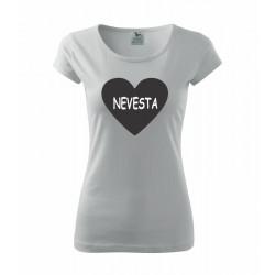 Nevesta - Dámské tričko s potlačou pre nevesty
