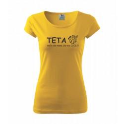 Teta niečo ako mama, ale viec cool - Dámské tričko s potlačou pre tety ako darček