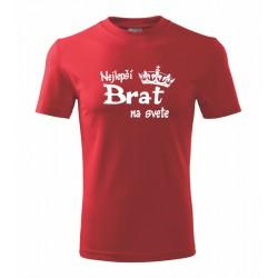 Najlepší Brat na svete - Pánske tričko s potlačou ako darček
