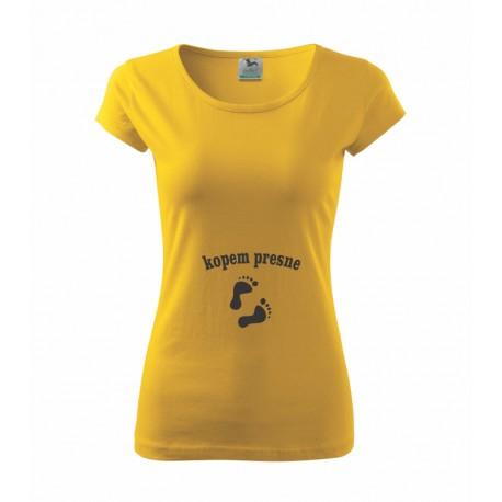 Kopem presne - Dámské tričko s potlačou Kopem presne