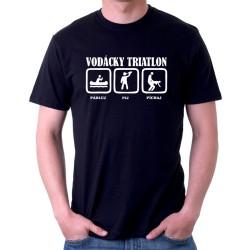 Vodácky Triatlon - Pádluj, Pij, Píchaj - Pánske tričko s potlačou