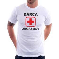 Dárca orgazmov - Pánske tričko s vtipnou potlačou