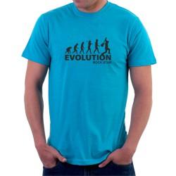 Evolution Rock Star - Pánské Tričko s vtipným potiskem