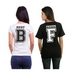Best - B- Dámské tričko s potlačou pre najlepšie kamarádky