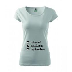 - Dámske tehotenské tričko, darčekove tričko pro tehotne ženy