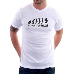 Evolution Born to Walk - Pánské Tričko s vtipným potiskem
