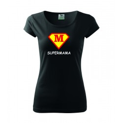 Super Mama, superman štyl - Dámske tričko, darčekove vtipne tričko