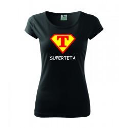 Super Teta, superman štyl - Dámske tričko, darčekove vtipne tričko pre tetu