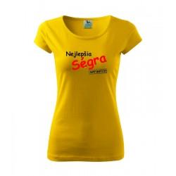Najlepšia Ségra, approved. Dámske tričko, darčekove vtipne tričko