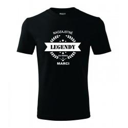 Naozajstné Legendy sa rodia v Marci. Pánske darčekove tričko, originalni darček