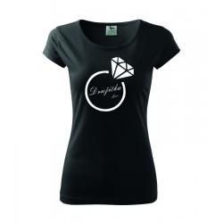 Družička s menom. Dámske tričko, darčekove tričko pre ženy