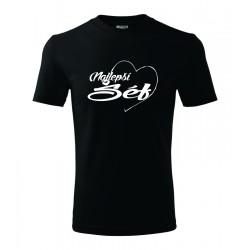Najlepší šéf v srdcu. Pánske darčekove tričko, originalni darček pre šéfa