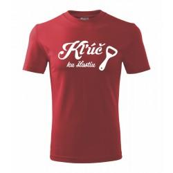 Kľúč ku šťastiu - Pánské tričko vhodné ako darček pre milovníkov piva.