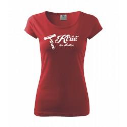 Kľúč ku šťastiu - Dámske tričko vhodné ako darček pre milovníkov vína