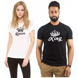 King a Queen - Trička pre páry - nápis v predu