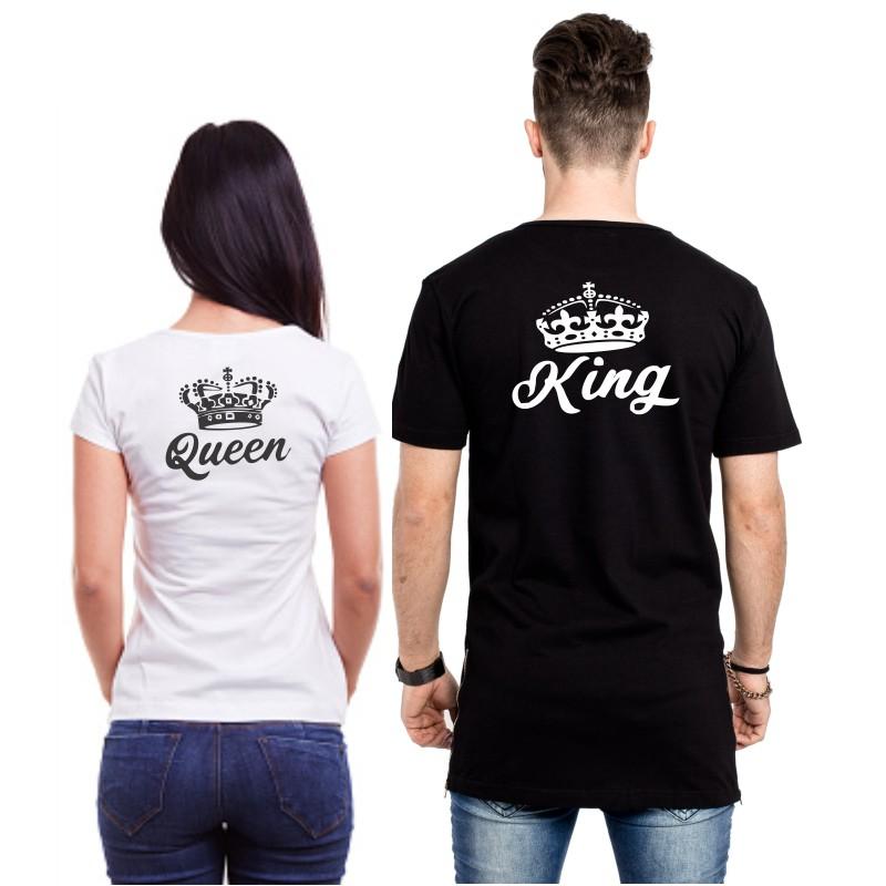 929720a4da73 ... King a Queen - Trička pre páry - nápis v zadu