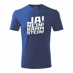 Ja nein Rammstein! - Pánske tričko s potlačou vhodne ako darček pre mylovníka posilňovne