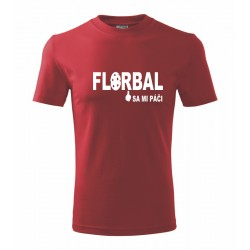 Florbal sa mi páči - Pánske tričko s potlačou vhodne ako darček