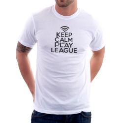 Keep Calm and Play League - Pánske Tričko s vtipnou potlačou