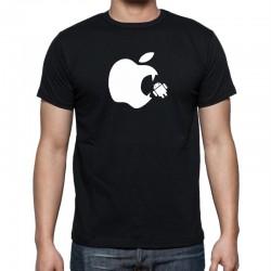Apple Vs Android - Pánske Tričko s vtipnou potlačou